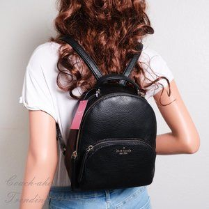 NWT Kate Spade Jackson Leather Backpack in Black